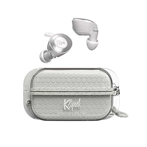 KLIPSCH, T5 II True Wireless Sport, kabellose Kopfhörer, Bluetooth, Lange Akkulaufzeit, grau