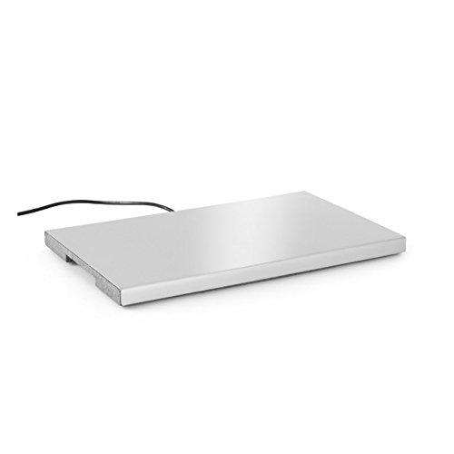 HENDI Warmhalteplatte, Basis isoliert, heizt automatisch auf 95°C, Zum warmhalten und in Kombination mit HENDI Thermboxen Kitchen Line GN 1/1 und größer, 230V, 190W, 530x325x(H)30, Aluminium