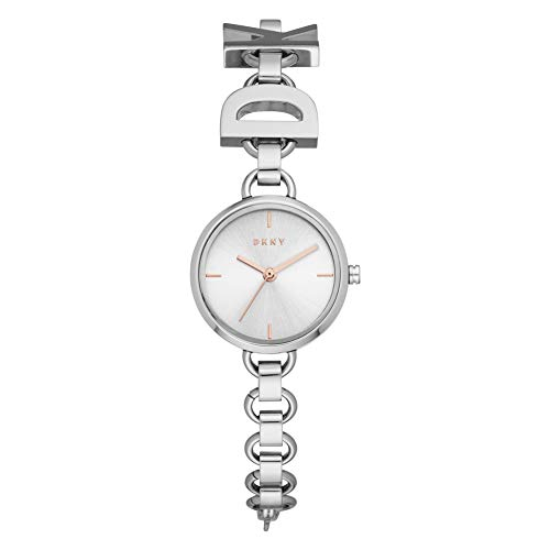 DKNY Damen-Uhren Analog Quarz One Size Silber Edelstahl 32010655