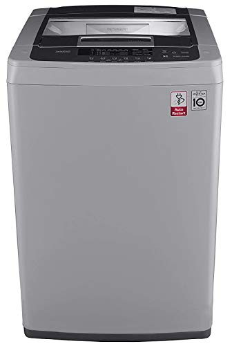 LG 6.5 kg Inverter Fully-Automatic Top Loading Washing Machine (-T7569NDDLH.ASFPEIL , Middle Free Silver)
