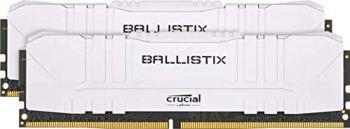 Crucial Ballistix BL2K8G30C15U4W 3000 MHz, DDR4, DRAM, Mémoire Kit pour PC de Gamer, 16Go (8Go x2), CL15, Blanc