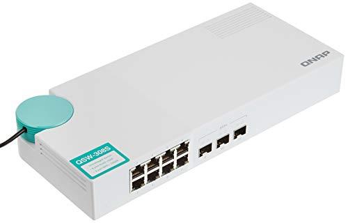 QNAP(キューナップ) 10GbEスイッチ 3ポート 10G SFP+(ファイバ)および1G/100M RJ-45 8ポート QSW-308S