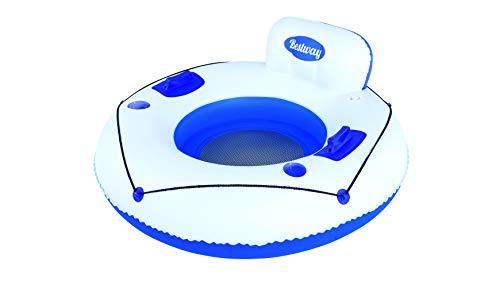 Smart Planet® Schwimmringsessel - Schwimm Lounge - Schwimmreif - Schwimmring Jumbo aufblasbar - Pool Ring Reif - Luftmatratze - Ø 119 cm
