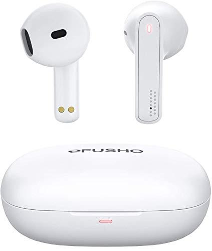 【ミニサイズ&軽量】Bluetoothイヤホン FUSHO 完全ワイヤレス イヤホン IPX5防水 ブルートゥースイヤホン 自動ペアリング HiFi高音質 TELEC技適認証済