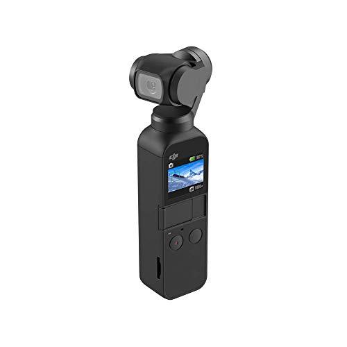 DJI Osmo Pocket - Stabilizzatore 3 Assi con Videocamera 4K Integrata, Risoluzione fino a 4K, 60 fps e Foto da 12 MP, Nero