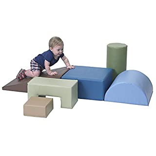IDEAL FOR IN HOME LEARNING: With everyone homeschooling their kids these days, the need for a soft play zone has arisen. Use one of Children's Factory's Climb and Play Soft Foam Block Sets to help infants, toddlers and kids with balance and coordinat...