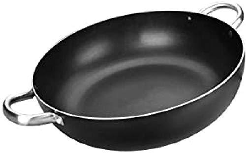 IBILI Bratpfanne I-Chef tief mit Griffen 36 cm, Aluminium, schwarz/Silber
