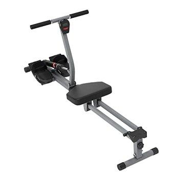 SogesHome Rameur,Rameur pour le fitness à la maison,rameur pliable avec moniteur LED,rameur silencieux 145*48*66cm,pour un exercice complet du corps,SH-YKTH-PM-B