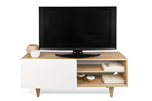 TemaHome, Nyla, Mobile Porta Tv, Beige (Beige/Bianco), 120 x 34 x 50 cm