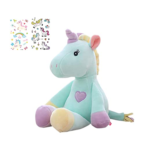 Georgie Porgy Niñito Mullido Juguete de Peluche Mentira Unicornio Juguete Suave Regalo de cumpleaños para niños (Verde)
