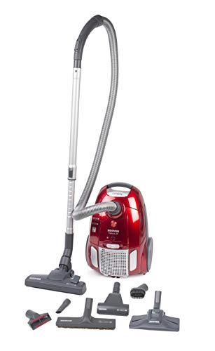 Hoover TE 75 Traino con Sacco Telios Plus, Sacco con capacit da 3,5 litri, 700 watt, Rosso