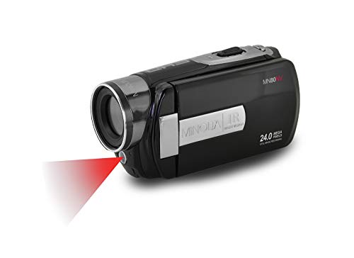 Minolta 1080p Full HD 3' Touchscreen Camcorder with Nightvision & 16GB SD Card, MN80NV-BK Black