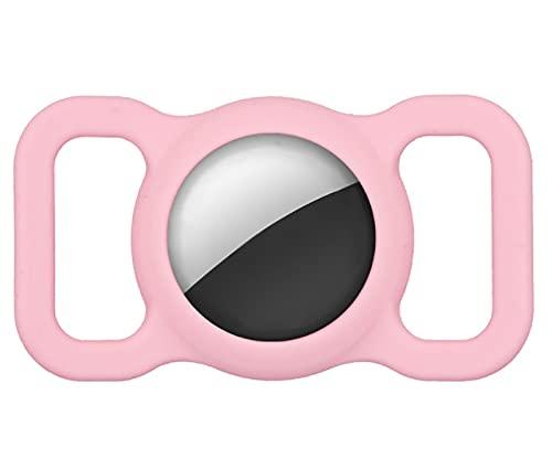SKYWPOJU 2 pièces Housse de Protection en Silicone pour Animaux de Compagnie pour Apple Airtag GPS Finder Collier de Chat pour Chien, Airtags de localisation Anti-Perte réglables (Color : Pink x 2)