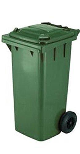 Bidone raccolta differenziata, contenitore da 120 litri colore verde a norma CE EN840 per la...