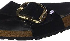 BIRKENSTOCK Madrid Big Buckle Mules/Clogs Women Black Mules Shoes
