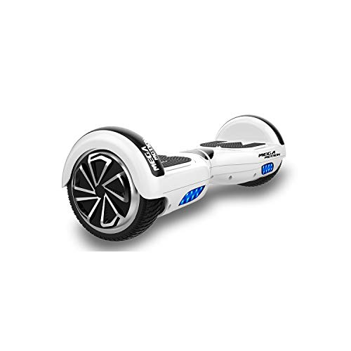 SOUTHERN-WOLF Hoverboard, Bluetooth 6.5 Pouces Self Balancing Scooter Gyropode avec Roues Flash LED E-Scooter z29 (White)