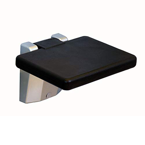 Folding Bathroom Chair Rectangular/Round Black PVC Shower Seat Suitable for The Elderly Disabled Pregnant Women Wall-Mounted Shower Stool Chair