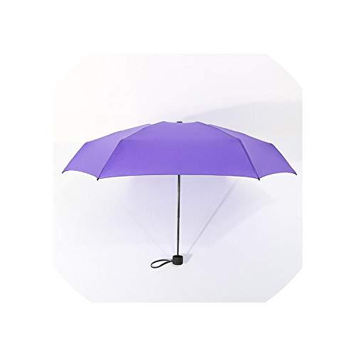 9colors Mini Pocket Umbrella Women Parasol Girls Anti-UV Waterproof Portable Ultralight Travel Umbrellas,Purple