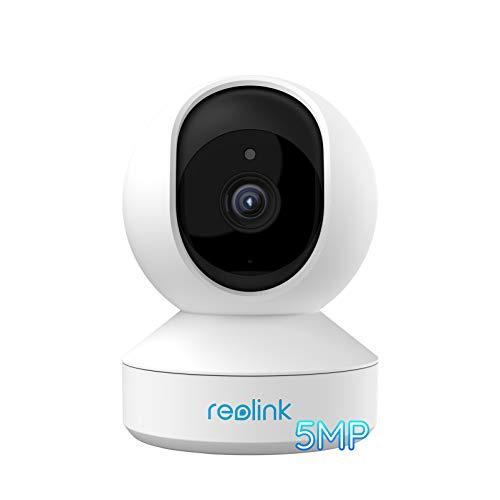Cámara Wi-Fi para interiores Reolink de 5 MP con zoom óptico y giro e inclinación de 3 aumentos, cámara de vigilancia WiFi de banda dual de 2,4 / 5 GHz, audio bidireccional y detección de movimiento para niños / ancianos / mascotas, zoom E1
