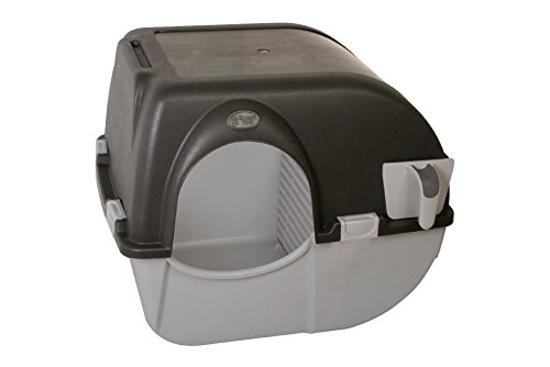 Omega Paw Self-Cleaning Litter Box, Large, Green and Beige