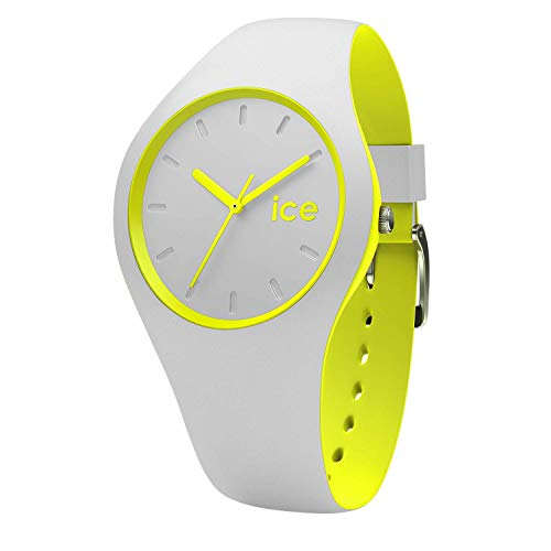 Ice-Watch - ICE duo Grey Yellow - Men's (Unisex) wristwatch with silicon strap - 001500 (Medium)