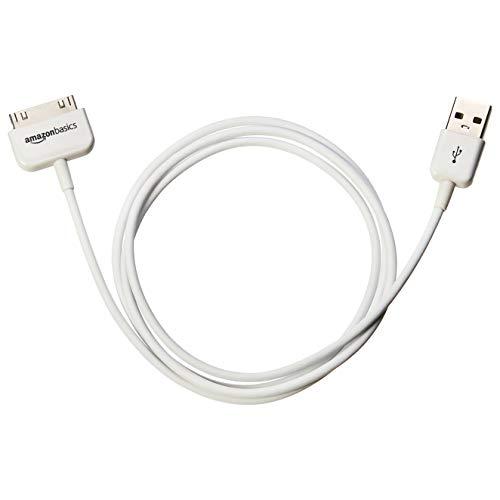 AmazonBasics - Cavo da 30 pin a USB certificato Apple per Apple iPhone 4, iPod e iPad di 3a generazione, 97,2 cm