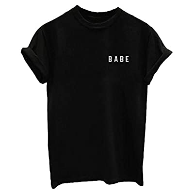 Made of Soft Stretchy Cotton, It is Quite Well Received by Women for Cool and Fresh Summer Style. Classic Comfortable Fit Tees, Easy to Match with Shorts, Skirts or Jeans. Suitable occasion: Beach, Club, Work, Daily Wear, etc. Graphic Print, Cute and...