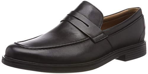 Clarks Un Aldric Step, Mocasines Hombre, Negro (Black Leather-), 47 EU