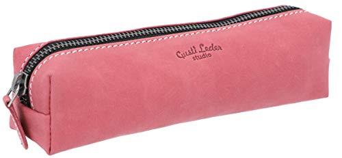 Astuccio - Gusti -'Addison' portapenne in vera pelle rosa fucsia