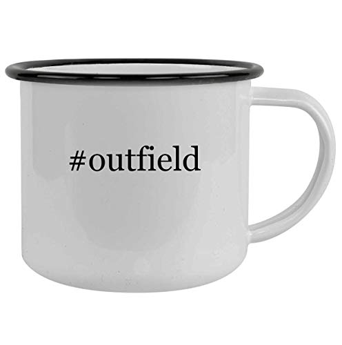 #outfield - 12oz Hashtag Camping Mug Stainless Steel, Black