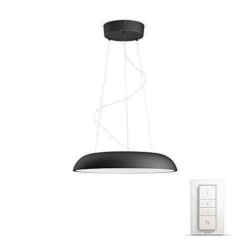 Philips Hue LED Pendelleuchte Amaze inkl. Dimmschalter, dimmbar, alle Weißschattierungen, steuerbar via App, schwarz, kompatibel mit Amazon Alexa (Echo, Echo Dot)