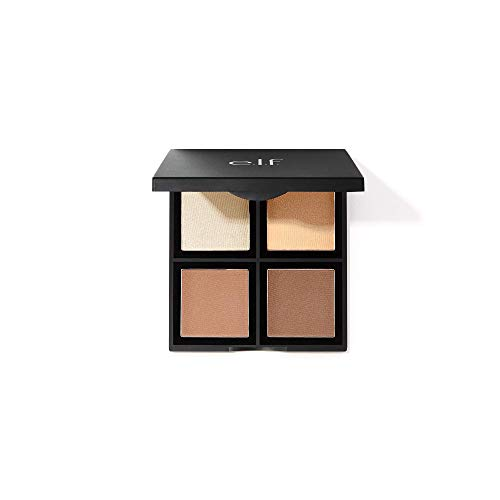 e.l.f., Contour Palette, 4 Shades, Customizable, Easy to Apply,...