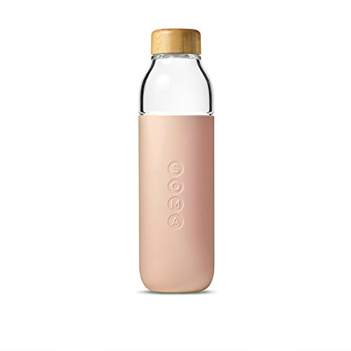 Soma 17 oz. BPA-free Wide Mouth Glass Water Bottle with...