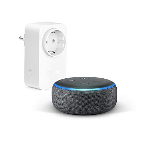 Echo Dot (3.ª generación), Tela de color antracita + Amazon...