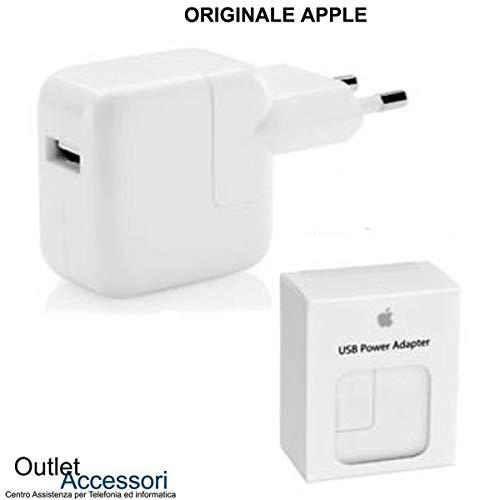 originale Caricatore Carica Batteria Alimentatore Compatibile per Apple Presa USB Power Adapter A1401 12W per iPhone iPad Tablet MD836ZM/A Confezione