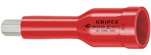 KNIPEX Tools - Socket Wrench, 1/2' Drive, 1000V Insulated (984906)