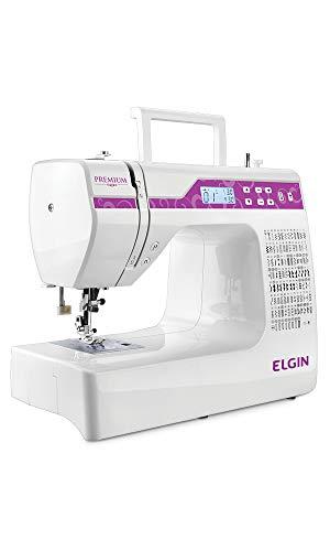 Maquina de Costura Premium Elgin Branco / Rosa 1