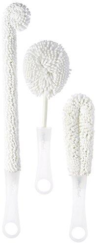 Final touch decanter Cleaner pezzi Set di pennelli wbr6- singolo ideale per la pulizia di vetri, calici da champagne, bicchieri di vino bottiglie di sport acquatici, bottiglie in acciaio INOX e più
