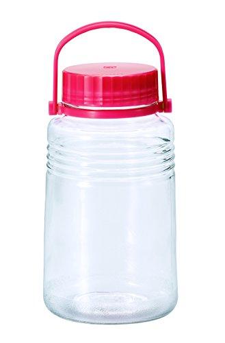 アデリア 保存びん 梅酒・果実酒びん 【中栓付き】 4L クリア 5号 日本製 761