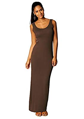 💛Material: Polyester+Spandex. Made out of soft fabric, smooth, skin-friendly, comfortable fit. Make you feel ease and relax! 💛Feature: Scoop neck, floor length, slim fit, solid color, sleeveless tank maxi dress. Easy match with your blazer, denim jac...