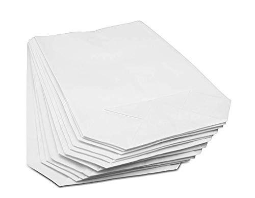 50/100 weiße kleine Kraftpapier-Tüten (14x19cm) mit Kreuzboden – Gerne verwendet für...
