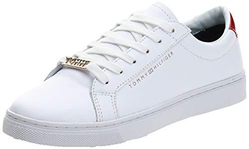 Tommy Hilfiger Essential Sneaker, Zapatillas Mujer, Blanco (RWB 020), 36 EU