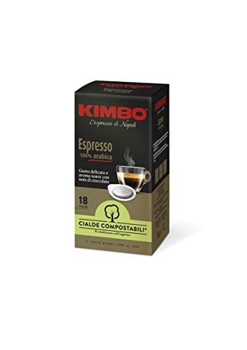 Kimbo Cialde Caffè Compostabili ESE Armonia 100% Arabica - 8 Pacchi da 18 Cialde (Totale 144 Cialde)