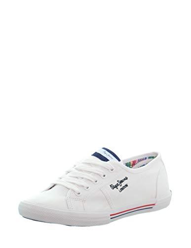 Pepe Jeans Aberlady Ecobass, Zapatillas Mujer, 800 Blanco, 39 EU
