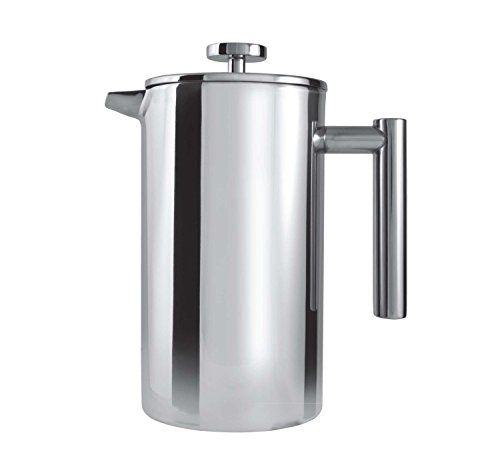 Grunwerg Cafe Ole Double Wall Insulated Straight 12 Cup/ 51oz Stainless Steel Cafetiere by Grunwerg