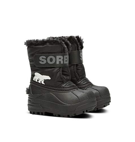 Sorel Toddler Snow Commander, Scarponcino Invernale Unisex-Bimbi 0-24, Nero (Black/Charcoal), 23 EU