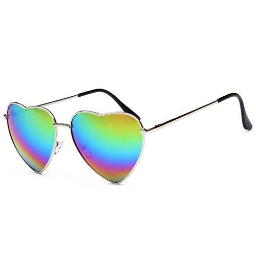 AiSi Lunettes de soleil pour femme à verres miroir polarisés UV400 pour...