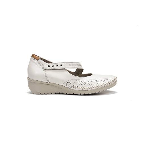 FLUCHOS 757 Zapato Merceditas Piel Mujer BEIG 39