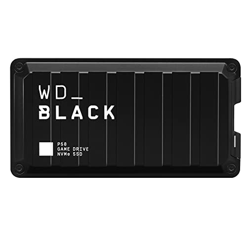 WD_BLACK 1TB P50 Game Drive SSD - Portable External Solid State Drive, Compatible with Playstat…