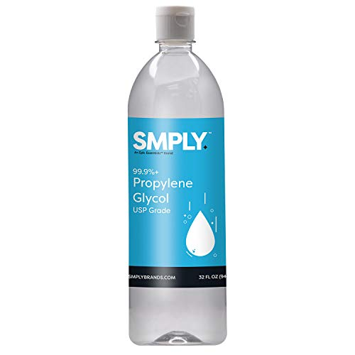 SMPLY. Propylene Glycol USP Kosher Certified 99.9%+ Pure Food & Pharmaceutical Grade - Highest Possible Purity - 35 oz. nt. wt